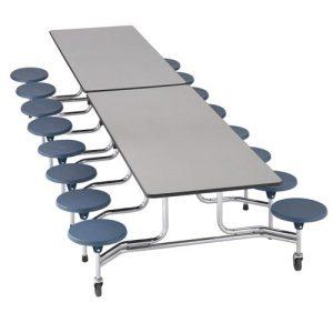 Mesa rectangular plegable y móvil
